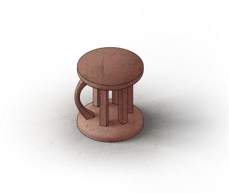 stool rendering